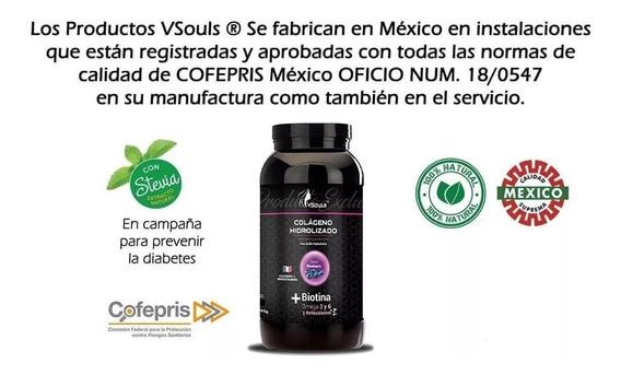 Colageno Con Biotina 2 Botes En Polvo Blueberry Vsouls 600g