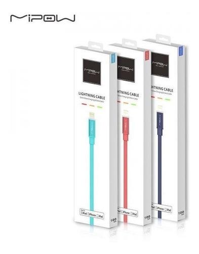 Imagen 1 de 1 de Cable Cargador iPhone Lightning Mipow Glowing Led - Premium