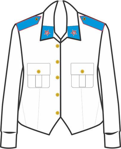 Uniforme Colégio Militar: Jaqueta Feminina Completa