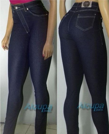 Roupa Feminina Calça Jeans Lycra Cintura Alta Dins Bumbum