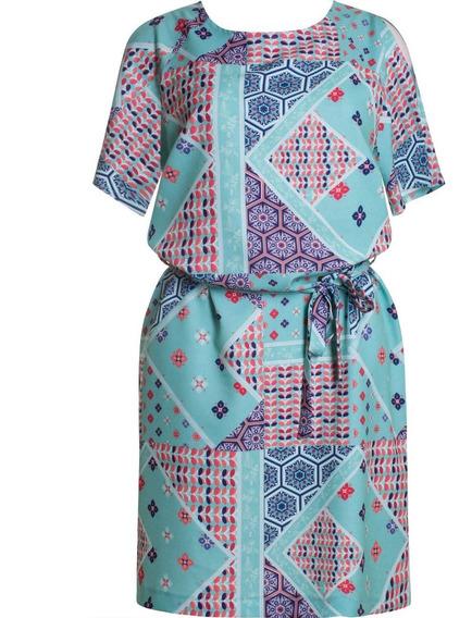 Vestido Social Chemise Estampado Seiki 780016