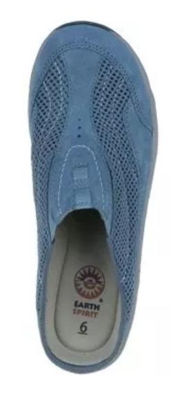 Zapatos Dama Talla 25.5 / 8 ½ Metedera Piel/poliester
