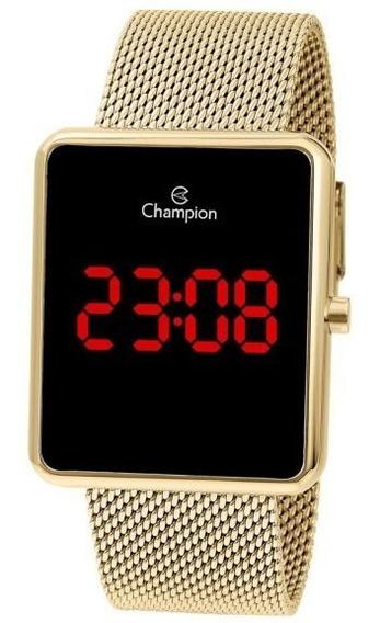 Relógio Champion Unissex Digital Ch40080v Dourado Quadrado