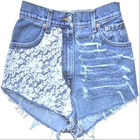 Kit 50 Short Bermuda Jeans Feminino Cintura Alta Top Atacado
