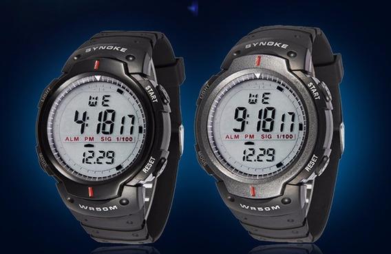 Relógio Masculino Esportivo Academia Caminhada Borracha Led