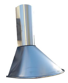 Campana Cocina 60cm Circular Acero Luz Led Doble Turbina