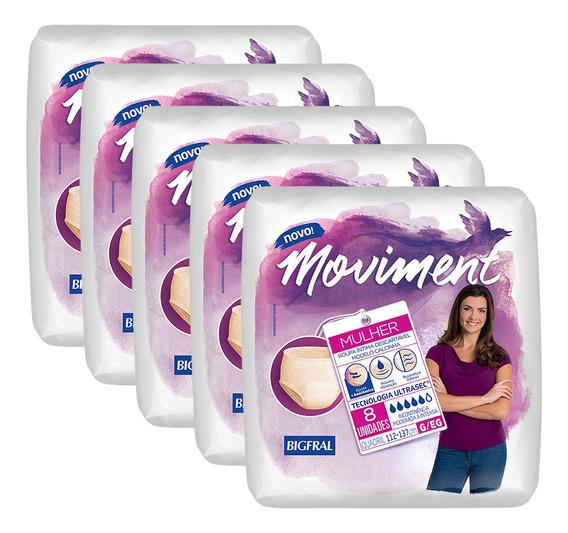 Kit De Roupa Íntima Descartável Moviment Feminina - G/eg 40