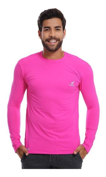 Camiseta Manga Longa Com Proteção Solar Uv Masculina Barata