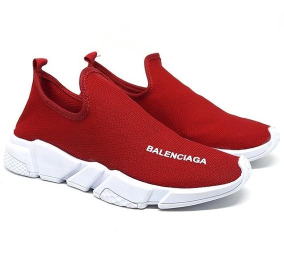Tênis Balenciaga Speed Vermelho Leveza E Conforto Frete Grát