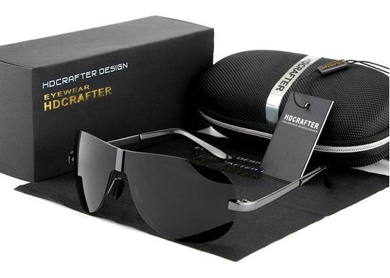 Óculos De Sol Hdcrafter Original Aviador Polarizado Uv400