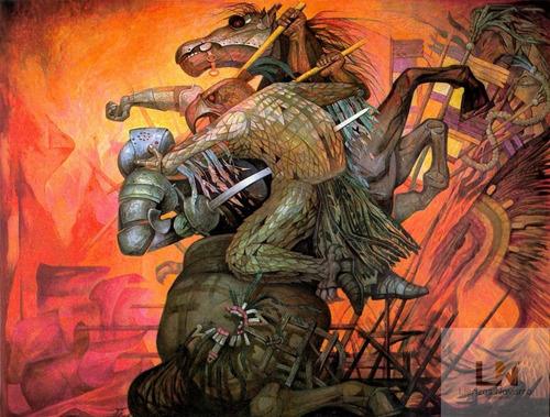 Imagen 1 de 5 de Lienzo Tela Fusión De Dos Culturas González Camarena