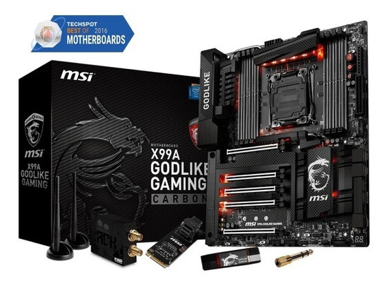 Placa Mae Msi X99a Godlike Gaming Carbon Lga 2011-v3