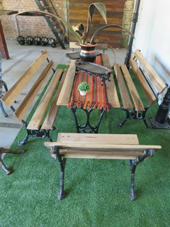 Juego De Jardin Hierro Fundido - Juegos de Muebles de Jardín en ...
