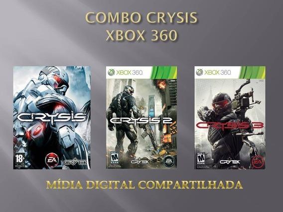 Combo Crysis 1, 2 E 3 Xbox 360 Mídia Compartilhada