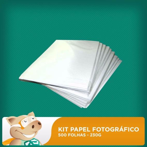 Kit Papel Fotográfico 500f 230gr A4 (resistente À Água)