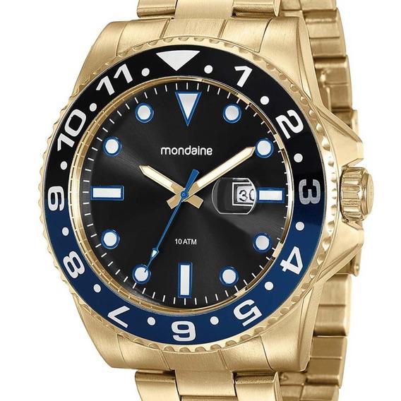 Relógio Mondaine Masculino 94785gpmvda3 Dourado Com Nota