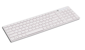 Teclado Usb Multimedia Slim Keyboard Kb 3110 / Branco