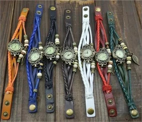 Kit Revenda: 10un. Relógio Feminino Vintage (com Bateria)