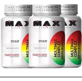 (promoção) Multimax Complex -90 Cap- Max Titanium