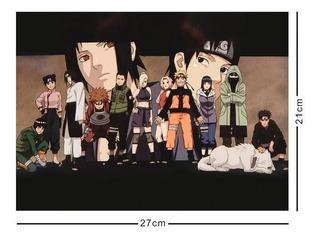 Naruto Cromo Poster Tamaño Carta Crew Sasuke Sharingan