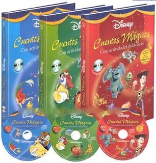 Libro Cuentos Magicos De Disney 3 Vol + 3 Cd