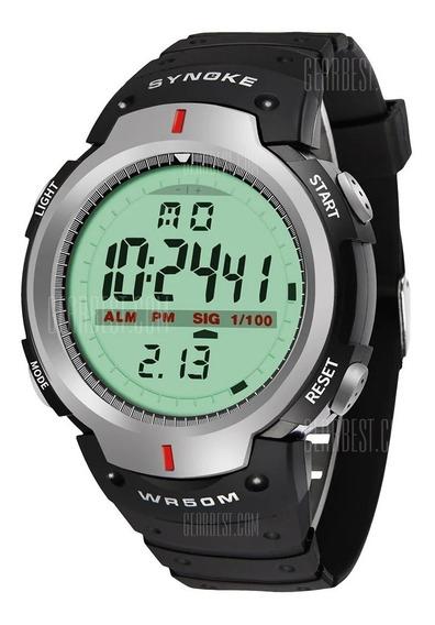 Relógio Masculino Feminino Digital Synoke 30m