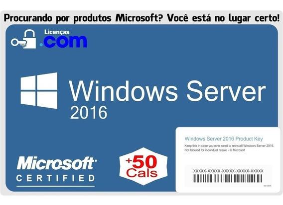 Windows Server 2016 + 50 Cals Standard Esd Nota Fiscal