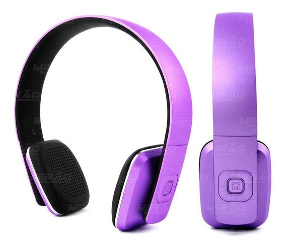 Headphone Bluetooth Hbt-500 Lilás 10m 6h Duração C Microfone