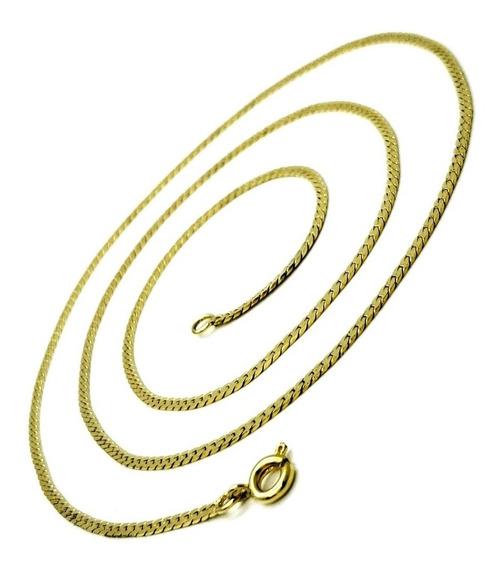 Corrente Cordão Diamantado 60cm Banho De Ouro 18k 1237