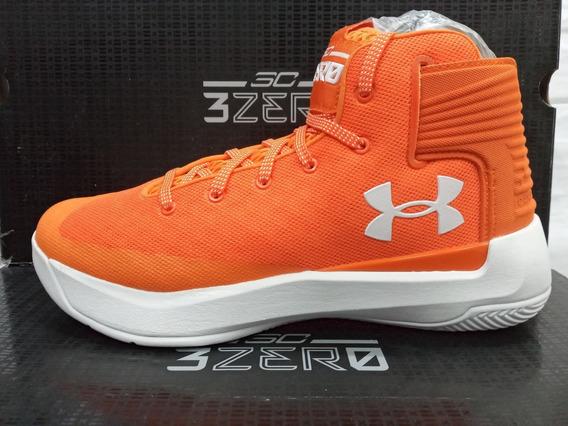 Tenis De Basquetbol Under Armour Curry 3zer0 Orange Original