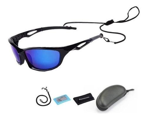 Oculos De Pesca Polarizado Com Proteção Uv + Estojo +itens