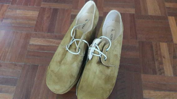 Zapatos Plataforma Taco Chino