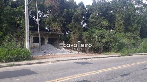 Terreno À Venda, 480 M² Em Frente A Carlos Mariguella - Maricá/rj - Te1114