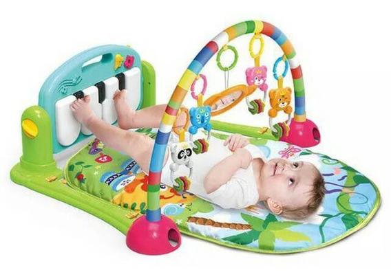 Tapete De Atividades Musical Piano Para Bebês Verde Dican