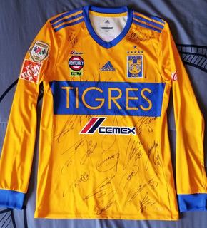 Jersey Tigres Usado Por Edu Vargas Autografiado 20 Firmas