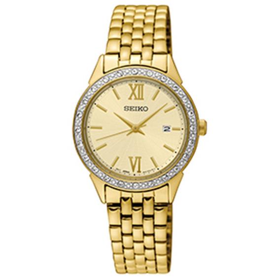 Relógio Social Seiko Analógico Feminino 5 Atm Sur728b1 C3kx