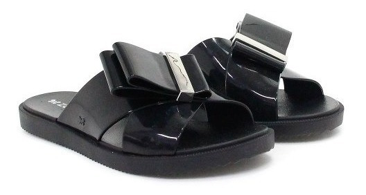 Chinelo Zaxy Slide Metal Preto