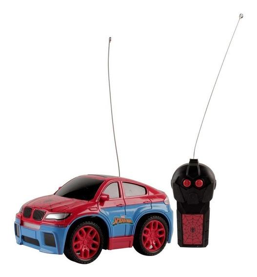 Carro Controle Remoto Homem Aranha Azul E Vermelho - Candide