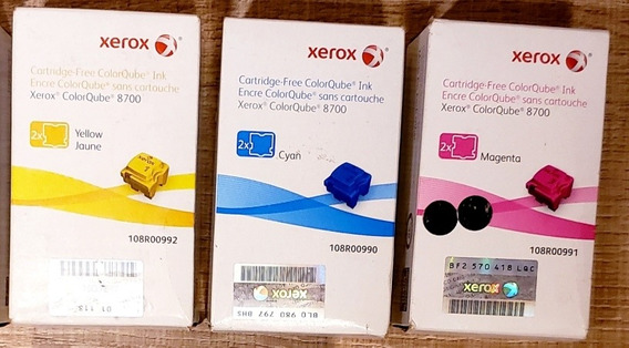 Kit Ceras Xerox 3 Cores (original) - Colorqube 8700