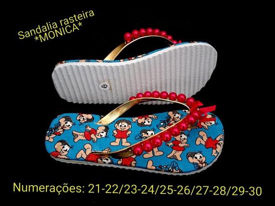 Sandália Rasteirinha Infantil Da *monica*