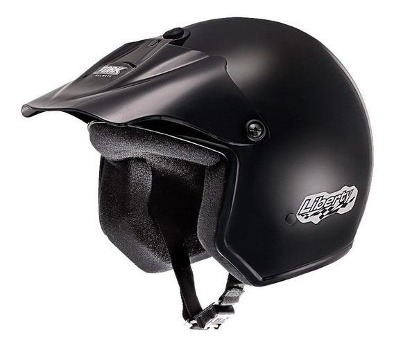 Capacete para moto aberto Pro Tork Liberty preto tamanho 58