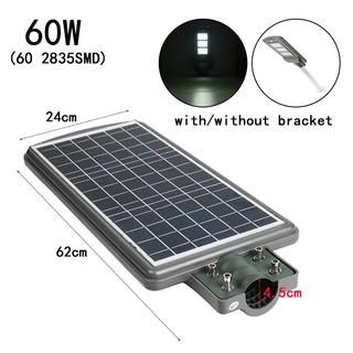 Lampara Led Con Panel Solar Y Sensor De Movimiento De 60w