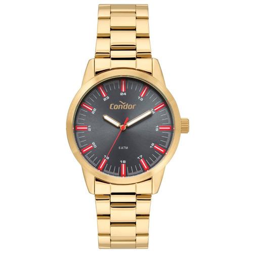 Relógio Masculino Dourado Condor Classic Luxo Original 5 Atm