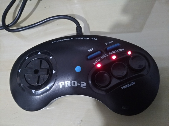 Controle Pro 2 Sega Mega Drive Chips Do Brasil Função Turbo