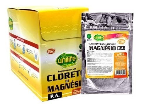 Cloreto De Magnésio Pa Solúvel 20 X 33g Sache - Unilife