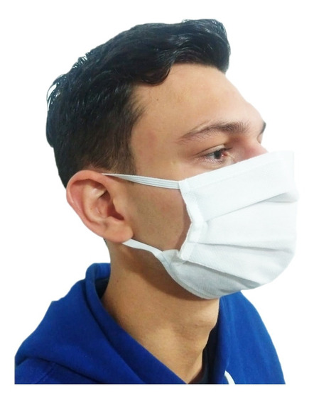 100 Máscara Profissional Hospitalar Tnt Dupla Com Elastico