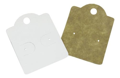 1000 Cartelas Dupla Kraft/branca Para Brinco - 5,5 X 4,5 Cm