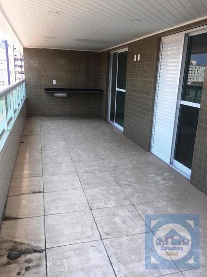 Apartamento Com 3 Dormitórios À Venda, 131 M² Por R$ 725.000,00 - Campo Grande - Santos/sp - Ap3551