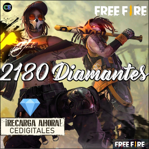 Free Fire 2180 Diamantes - Entrega Inmediata.
