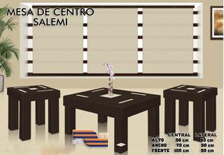 Mesa De Centro Sala Salemi   Chocolate Lujo Msi